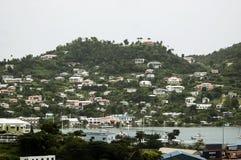 Mening van het eiland Grenada, St Caraïbisch George, royalty-vrije stock afbeeldingen