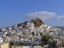 Mening van het eiland van Ios in Cycladen, Royalty-vrije Stock Foto's