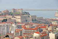 Mening van het fort in Marseille royalty-vrije stock afbeeldingen