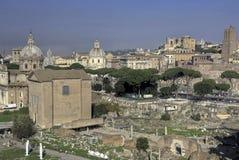 Mening van het Forum Romanum in HDR royalty-vrije stock foto
