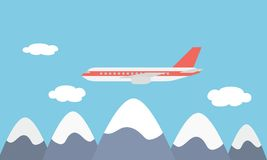 Mening van het grote en snelle lijnlijnvliegtuig Stock Afbeelding