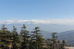 Mening van het Himalayagebergte van Kausani, Uttarkhand, India royalty-vrije stock fotografie