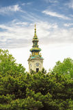 Mening van het historische centrum van Belgrado Royalty-vrije Stock Afbeeldingen