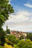 Mening van het historische centrum van Belgrado Stock Afbeeldingen