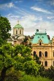 Mening van het historische centrum van Belgrado Royalty-vrije Stock Foto