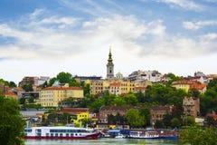 Mening van het historische centrum van Belgrado, Servië Royalty-vrije Stock Foto's