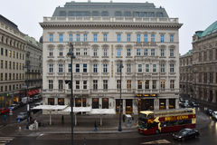 Mening van het Hotel Sacher Stock Fotografie