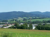 Mening van het industriële deel van de stad Stock Afbeelding