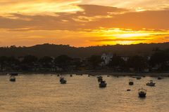 Mening van het Itacare-dorp in Bahia royalty-vrije stock foto's
