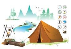 Mening van het kamperen Royalty-vrije Stock Fotografie