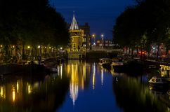 Mening van het kanaal van Amsterdam royalty-vrije stock afbeeldingen