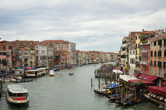 Mening van het Kanaal van Venetië de Grote Stock Afbeeldingen