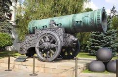 Mening van het kanon van de Koning in Moskou royalty-vrije stock afbeeldingen