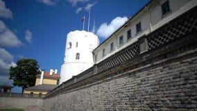 Mening van het Kasteel van Riga - de woonplaats van Voorzitter van de Oude Stad van Letland, Riga, Letland stock footage