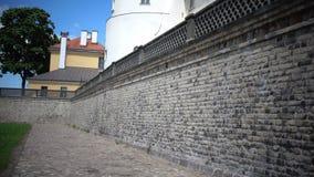 Mening van het Kasteel van Riga - de woonplaats van Voorzitter van de Oude Stad van Letland, Riga, Letland stock video