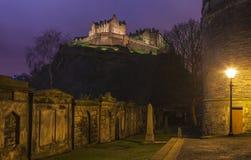 Mening van het Kasteel van Edinburgh stock afbeeldingen