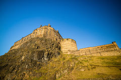Mening van het Kasteel van Edinburgh in Schotland stock foto's
