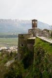 Mening van het kasteel van Gjirokaster Royalty-vrije Stock Foto's