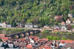 Mening van het kasteel van Heidelberg Royalty-vrije Stock Fotografie