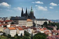 Mening van het Kasteel van Praag royalty-vrije stock foto's