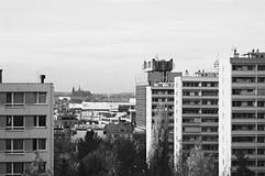 Mening van het Kasteel van Praag stock foto's