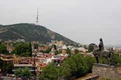 Mening van het kasteel van Tbilisi Royalty-vrije Stock Afbeelding