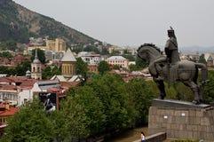Mening van het kasteel van Tbilisi Royalty-vrije Stock Afbeeldingen