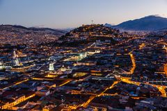 Mening van het koloniale Quito Royalty-vrije Stock Afbeelding