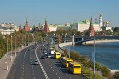 Mening van het Kremlin, Moskou stock afbeelding