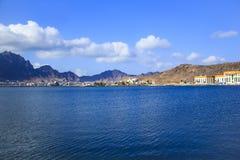 Mening van het kustdeel van de stad van Aden, Yemen Stock Afbeeldingen