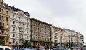 Mening van het Majolicahuis door Otto Wagner-architect, Wenen Royalty-vrije Stock Foto's