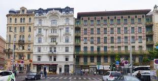 Mening van het Majolicahuis door Otto Wagner-architect, Wenen Stock Fotografie