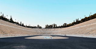 Mening van het marmeren Stadion in Athene Royalty-vrije Stock Fotografie