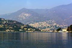 Mening van het Meer Como in Italië Royalty-vrije Stock Foto