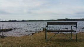 Mening van het meer met een droevige atmosfeer Royalty-vrije Stock Afbeeldingen