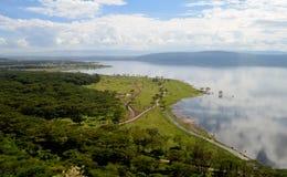Mening van het meer Nakuru Royalty-vrije Stock Foto's