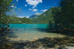Mening van het meer van Cavazzo Stock Fotografie