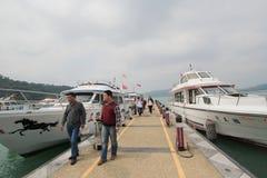 Mening van het Meer van de Zonmaan in Taiwan Royalty-vrije Stock Afbeelding