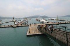 Mening van het Meer van de Zonmaan in Taiwan Royalty-vrije Stock Afbeeldingen