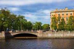 Mening van het Mikhailovsky-Kasteel Heilige Petersburg Stock Fotografie