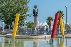 Mening van het monument aan Italiaanse militair en de politicus Raff royalty-vrije stock afbeelding