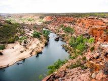 Mening van het Nationale Park van Kalbarri in Westelijk Australië Stock Foto