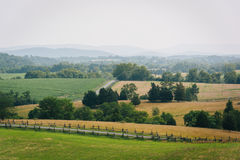 Mening van het Nationale Slagveld van Antietam, Maryland stock foto's