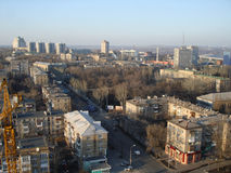 Mening van het noordelijke deel van Donetsk met een panoramisch gezicht Royalty-vrije Stock Afbeeldingen