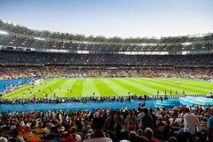 Mening van het Olympische Stadion van Kyiv Royalty-vrije Stock Foto's