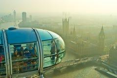 Mening van het Oog van Londen, Londen Royalty-vrije Stock Afbeeldingen