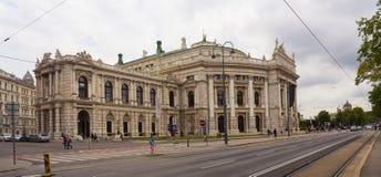Mening van het Oostenrijkse Nationale Theater van Burgtheater in Wenen Royalty-vrije Stock Afbeelding