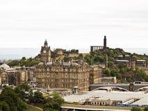 Mening van het oude deel van Edinburgh in Schotland royalty-vrije stock foto