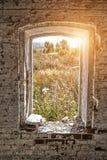 Mening van het oude venster royalty-vrije stock foto