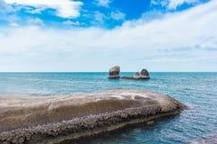 Mening van het Overzees in Thailand Stock Foto's